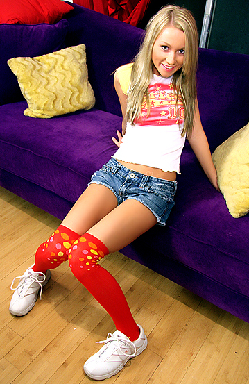 Blonde teen casting couch